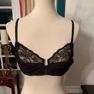 36D La Perla Lace Underwire Black Bra - New